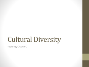 Cultural Diversity Sociology Chapter 2
