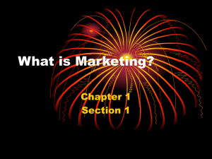 What is Marketing? Chapter 1 Section 1