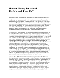 Modern History Sourcebook: The Marshall Plan, 1947
