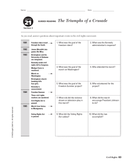 21 The Triumphs of a Crusade