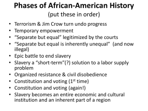 Phases of African-American History (put these in order)