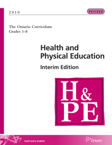 Health and Physical Education Interim Edition 2 0 1 0