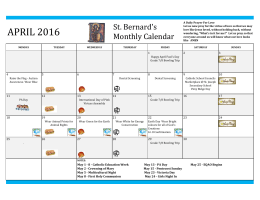 APRIL 2016 St. Bernard's