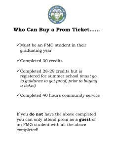 Who Can Buy a Prom Ticket……