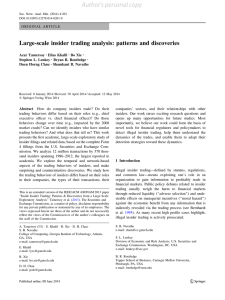 Large-scale insider trading analysis: patterns and discoveries