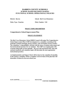 BARREN COUNTY SCHOOLS  SCHOOL-BASED DECISION MAKING FUNCTIONAL SCHOOL OPERATIONAL POLICIES