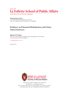 La Follette School of Public Affairs Robert M.
