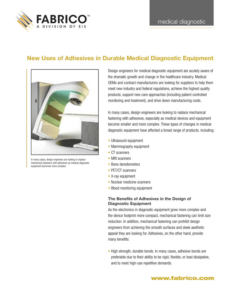 New uses of adhesives in durable medical diagnostic equipment new uses of adhesives in durable medical diagnostic equipment medical diagnostic freerunsca Gallery