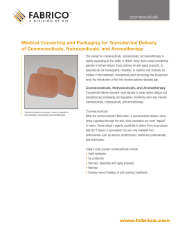 Medical Converting and Packaging for Transdermal Delivery
