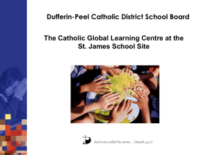 Dufferin-Peel Catholic District School Board St. James School Site
