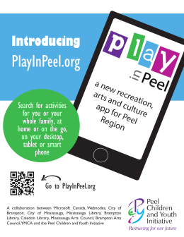 PlayInPeel.org Introducing a new r ecreation,