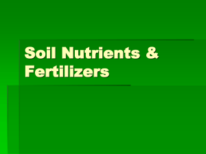 Soil Nutrients & Fertilizers