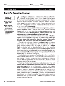 A Earth's Crust in Motion