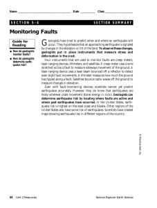 G Monitoring Faults