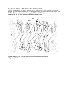 Body Positions of Slaves in Hold of French Slave Ship... Many slave ship captains forced their human cargoes to lie...