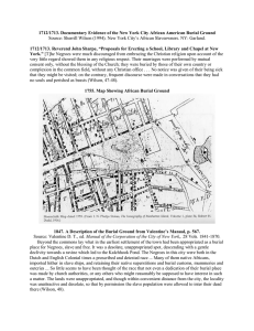 "1712/1713. Documentary Evidence of the New York City African American... 1712/1713. Reverend John Sharpe, ""Proposals for Erecting a School, Library... Source: Sherrill Wilson (1994). New York City's African Slaveowners. NY:..."