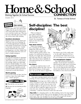 Home&School Self-discipline: The best discipline! CONNECTION