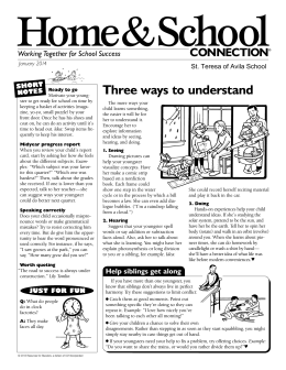 Home&School Three ways to understand CONNECTION