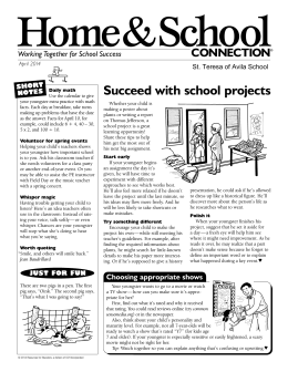 Home&School Succeed with school projects CONNECTION