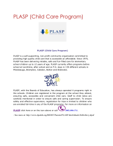 PLASP (Child Care Program)