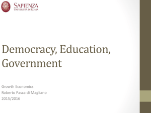 Democracy, Education, Government Growth Economics Roberto Pasca di Magliano
