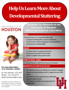 Help Us Learn More About Developmental Stuttering