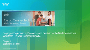 Employee Expectations, Demands, and Behavior of the Next Generation's Workforce