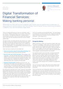 Digital Transformation of Financial Services: Making banking personal