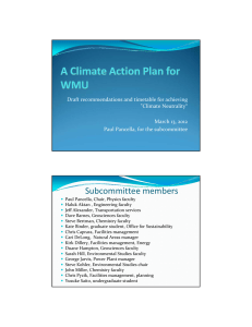 "Draft recommendations and timetable for achieving  ""Climate Neutrality"" March 13, 2012 Paul Pancella, for the subcommittee"
