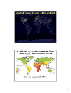 Effects of Climate Change on Human Health