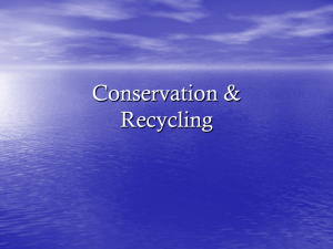 Conservation & Recycling
