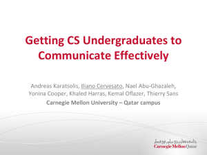 Getting CS Undergraduates to Communicate Effectively