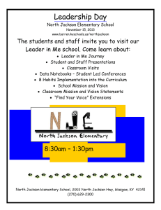 Leadership Day  The students and staff invite you to visit our
