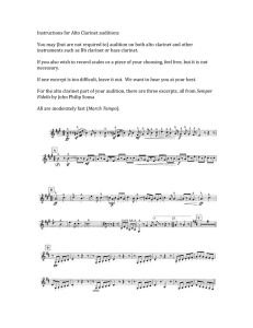 Instructions for Alto Clarinet auditions