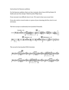 Instructions for Bassoon auditions  ACES Semper Fidelis