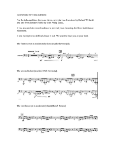 Instructions for Tuba auditions  Aces Semper Fidelis