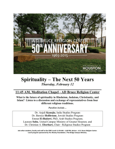 Spirituality – The Next 50 Years Thursday, February 12