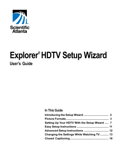 Explorer HDTV Setup Wizard  User's Guide