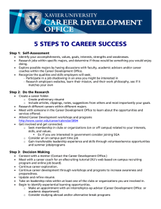 5 STEPS TO CAREER SUCCESS  Step 1:  Self-Assessment