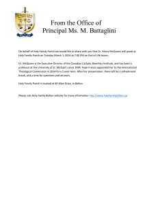 From the Office of Principal Ms. M. Battaglini