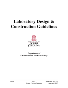 Laboratory Design & Construction Guidelines  Department of