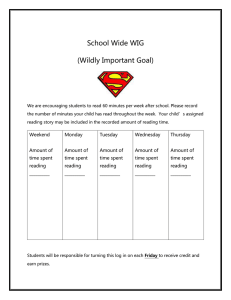 School Wide WIG (Wildly Important Goal)