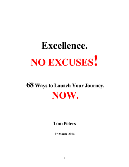 !  NO EXCUSES NOW.