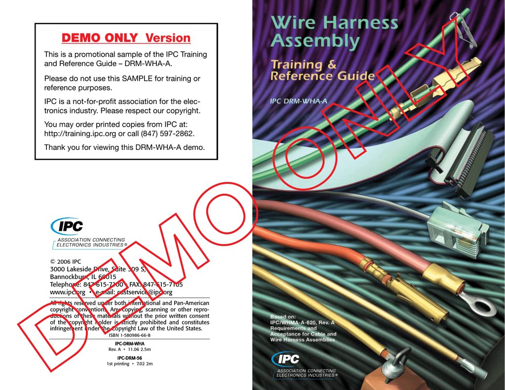Requirements And Acceptance For Cable Wire Harness Emblies ... on