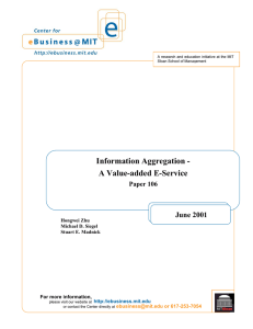 Information Aggregation - A Value-added E-Service June 2001 Paper 106