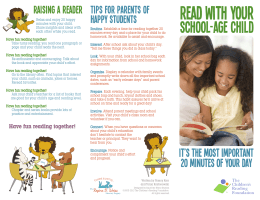 Read with your School age child Raising a Reader Tips for Parents of