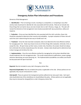 Emergency Action Plan Information and Procedures