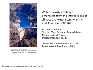 Water security challenges emanating from the intersections of arid Americas:  ENERGY