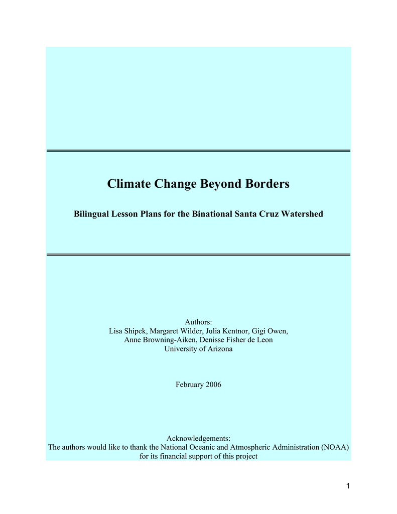 Climate Change Beyond Borders