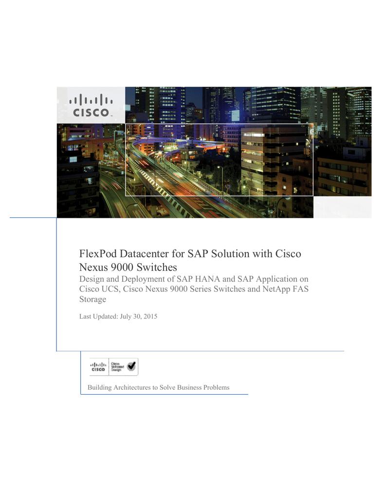FlexPod Datacenter for SAP Solution with Cisco Nexus 9000